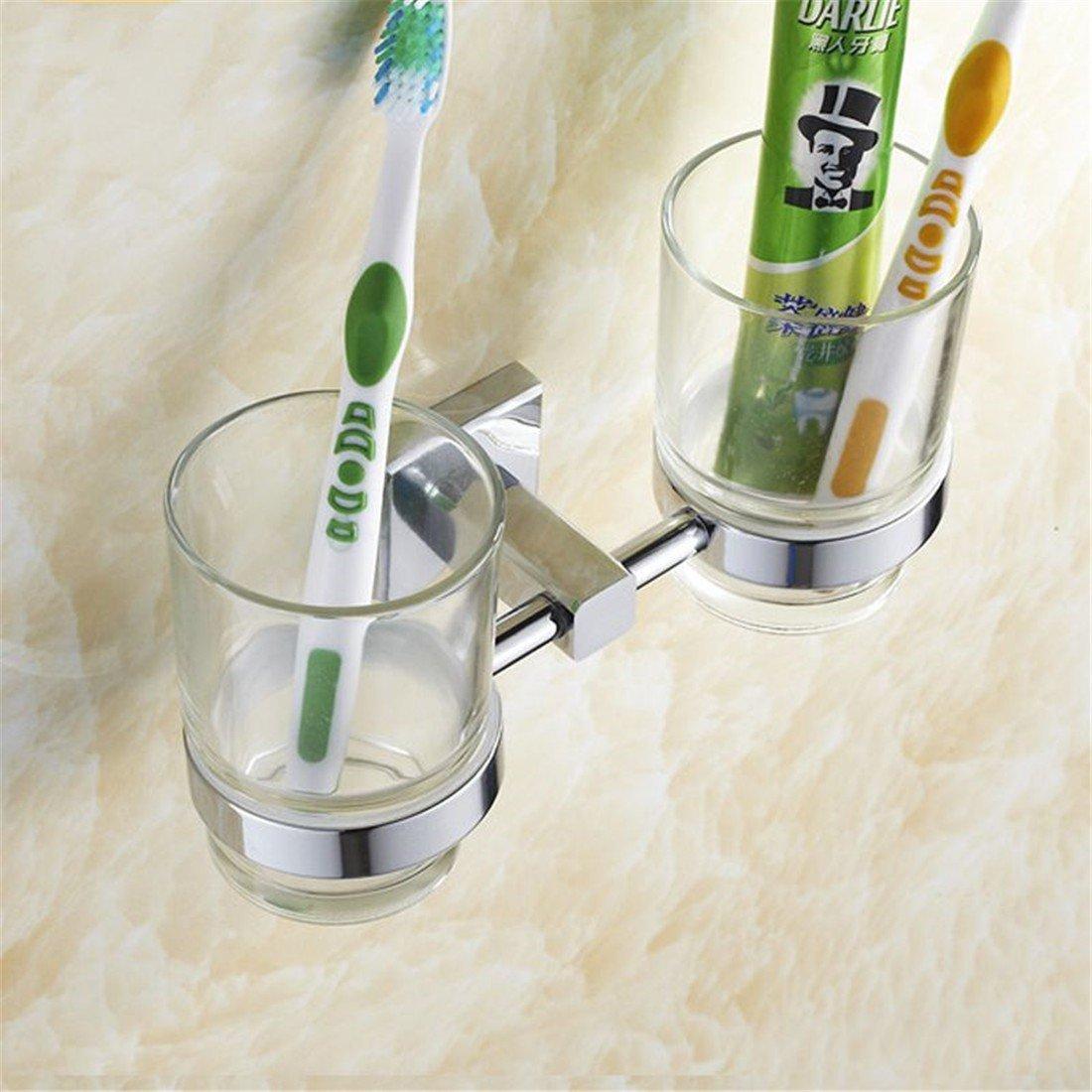 LAONA A contemporary minimalist Brass chrome bathroom accessory kit bath towel rack Towel racks, Dual Cup