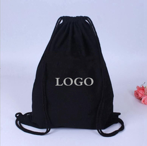 2019 Top sale canvas cotton backpack fashion style travel bag accept custom logo