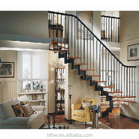 home decorations diy floating stairs with stainless steel handrail design