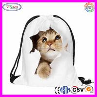 F137 Cat Fashion Unisex Backpacks 3D Printing Bags Handbag Drawstring Backpack 3D Cat Bag