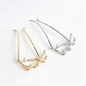 personality tree branch metal hair clip for thick hair