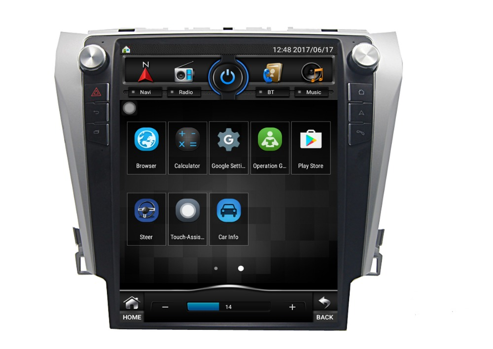 Smaple Fedex Free Shipping 12.1 inch Double Din Digital Touch Screen <strong>Car</strong> Stereo Bluetooth GPS for <strong>Toyota</strong> Camry 2012-2015