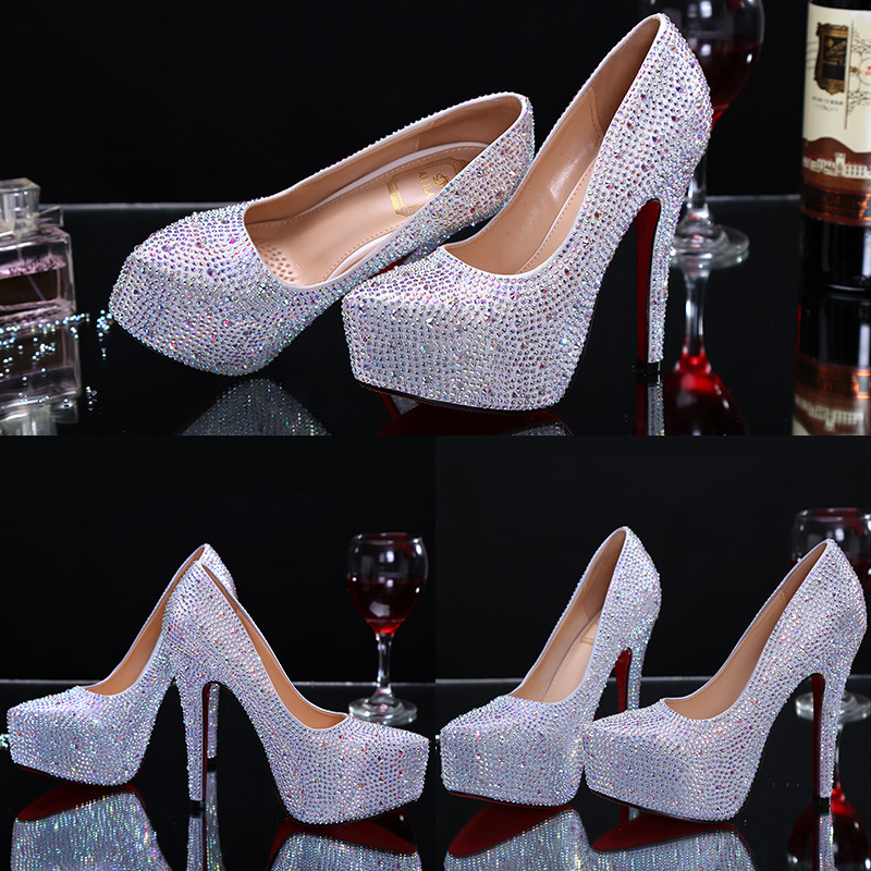 bride quality shoes wedding dinner High high heel ZH756B women w45CxRBnYq