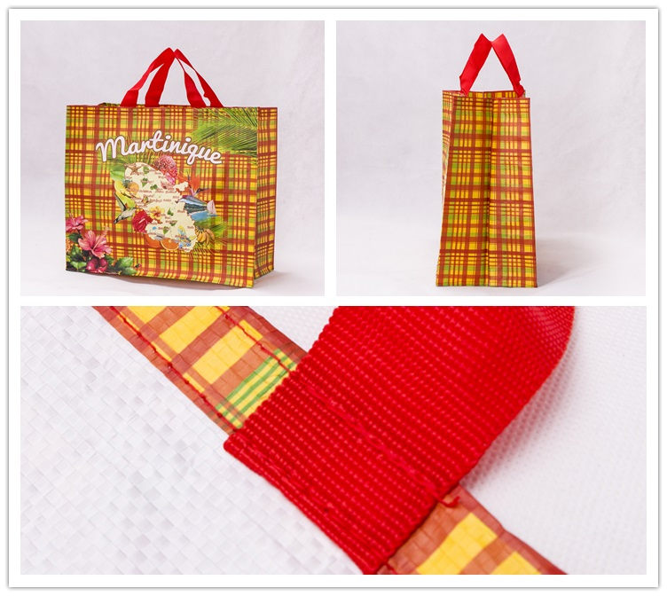Waterproof PP laminated promotional carry woven tote bag