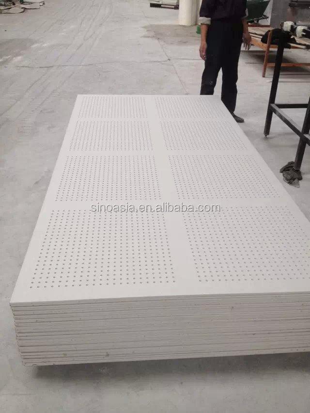 Black Gypsum Board : Building material aluminum perforated ceiling board
