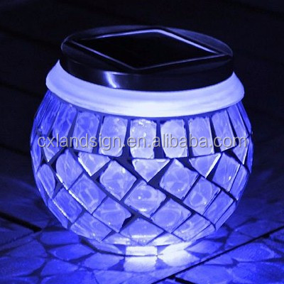 lowest price high quality solar light with 1*white LED and glass+plastic material solar powered grave lights