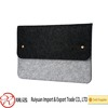 black and grey felt laptop case with two Snap fasteners on Alibaba