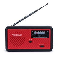 Best Popular dynamo rechargeable AM FM WB weather radio with flashlight