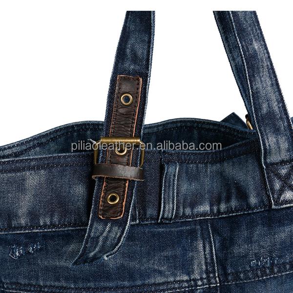 44a0060f1fee5 النمط المألوف النساء الجينز حقيبة ، الجينز حقيبة شاطئية ، الجينز حمل حقيبة