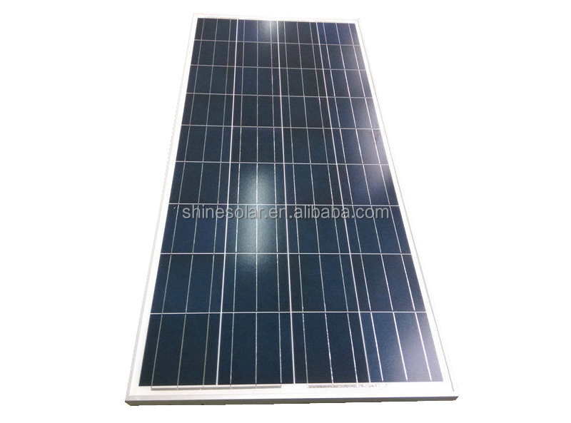 Shine Hot Sale! High Efficiency 140W Photovoltaic PV Panel for Street Light System and Home Use Powerful Polycrystalline Solar M
