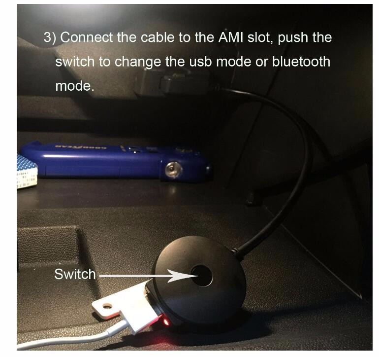 Bluetooth Adapter For Audi And Volkswagen Ipod Iphone Ami: Plug And Play Ami Bluetooth Cable For Car Vw Audi A4 A6 Q5