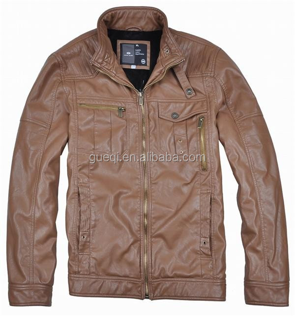 2017 Good quality new designs fashion genuine leather jacket