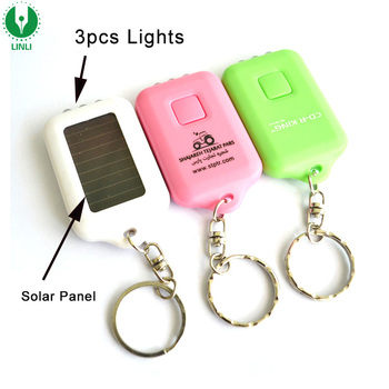 Giveaway Custom Logo Outdoor Solar Power Retractable Led Light Key Chain