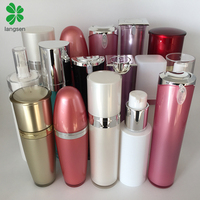 Luxury plastic acrylic lotion pump bottles cosmetic lotion bottles15ml 30ml 50ml 60ml 80ml 100ml 120ml 150ml