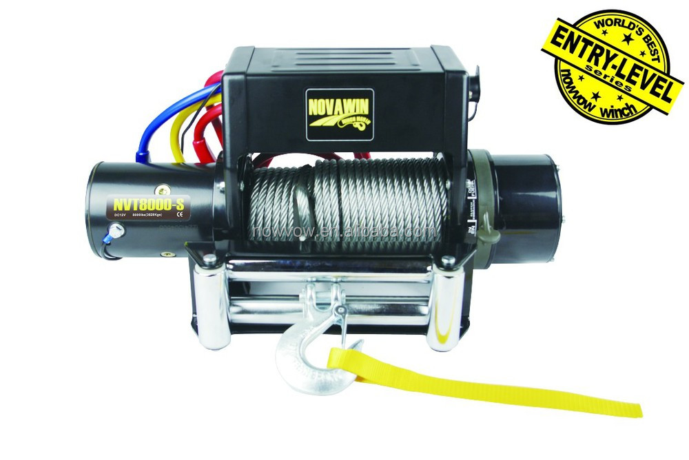 Wire Rope Electric Winch For Jeep 12v And 24v 8000lbs Nvg8000-s ...