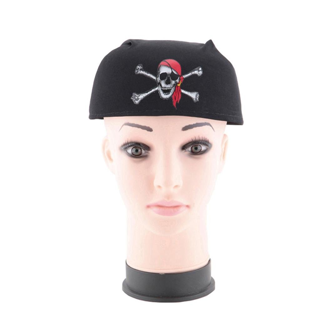 AMA(TM) Halloween Masquerade Parties Cosplay Dress Magic Pirate Hat Themed Ship Captain Party Cos Toy (Black)