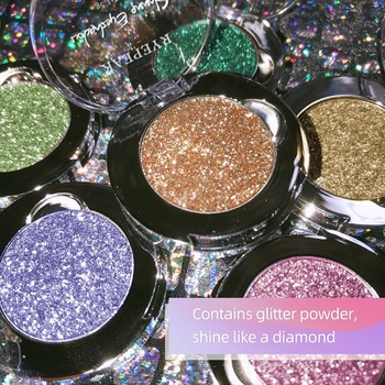 china Guangzhou high pigment makeup cosmetic factory color customized 3D highlighter glitter eyeshadow for private label