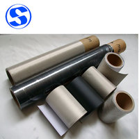 Conductive fabric laminated with flame retardant adhesive film series