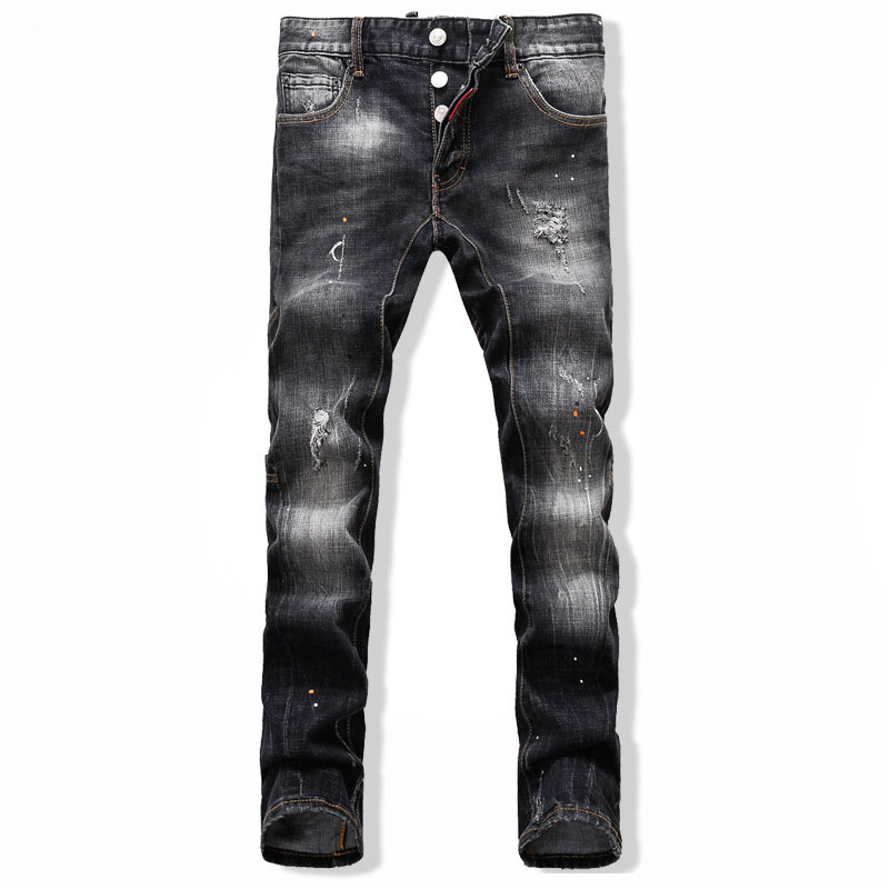 97d5640ea1a Get Quotations · sexy dsq 2015 mens fashion jeans men pants italy black  jeans brand motorcycle denim biker jeans