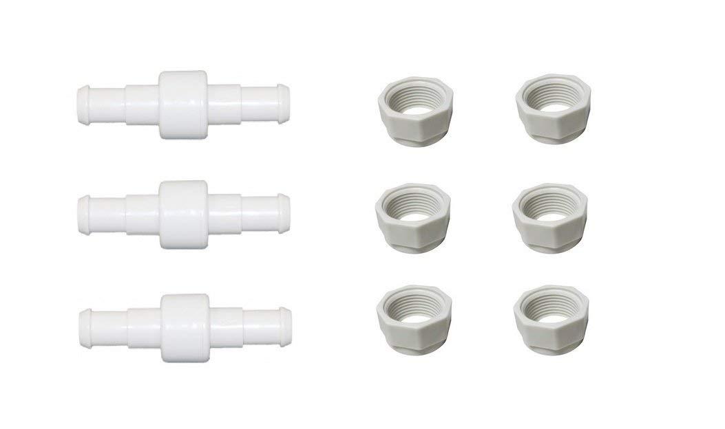 /> 180 280 380 480 3900 pool hose repair Lot of 6 D15 Nuts GENUINE OEM  POLARIS