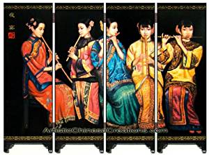 Chinese Home Decor / Chinese Gifts / Chinese Crafts / Chinese Mini Screen: Chinese Folding Mini Screen - Chinese Beauties