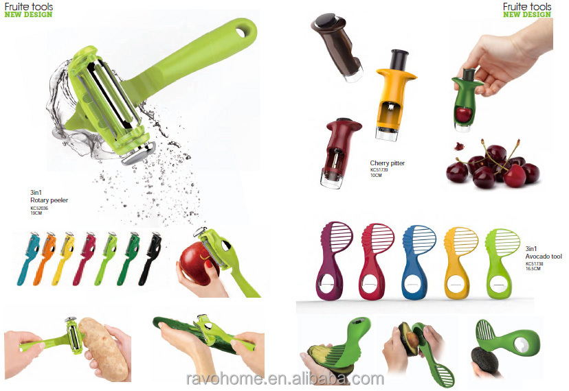Patented New Design 3 in 1 Multifunction Rotary Peeler