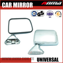 Automotive spare parts car door mirror universal chrome rear view mirrors