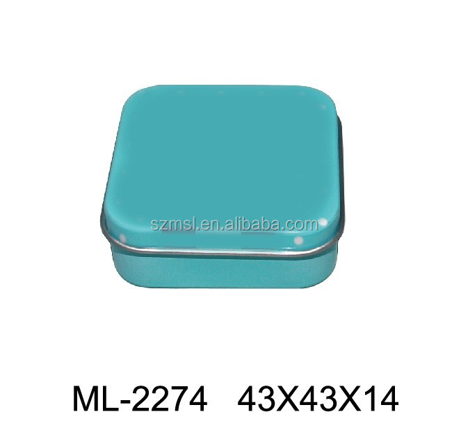 Small rectangular metal tin tobacco packaging cigarette tins can
