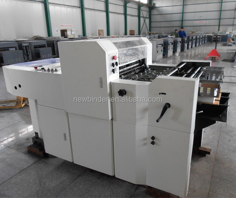 590T Thin Paper UV Coater Machine with offset feeder and gripper delivery