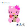 Waterproof New Cute Hello Kitty Design Silicone Case For Iphone