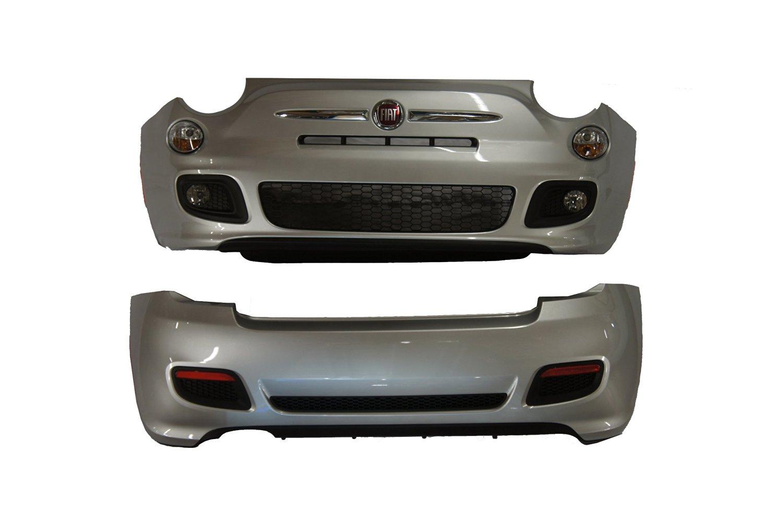 Genuine Fiat Accessories 82212673 Fiat 500/500C Bright Silver/Argento Ground Effect Kit