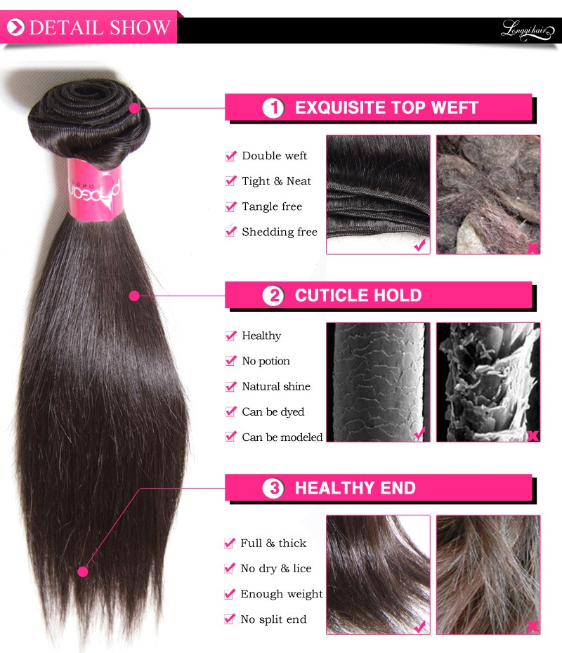 Indian Virgin Hair Silky Straight Wave Double Weft Clip In Human