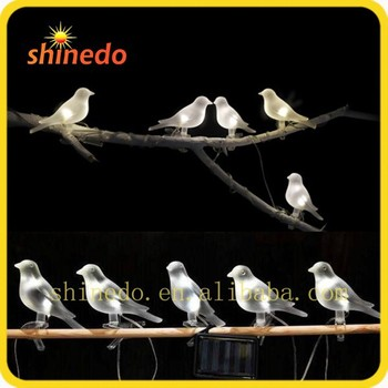 Small 5pcs Solar Decoration Bird String Light For Outdoor