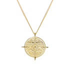 Minimalist 925 sliver 18K gold platted Jewelry Suncoins pendant necklace