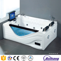 AS32036 square jet whirlpool bathtub with TV for shower bath