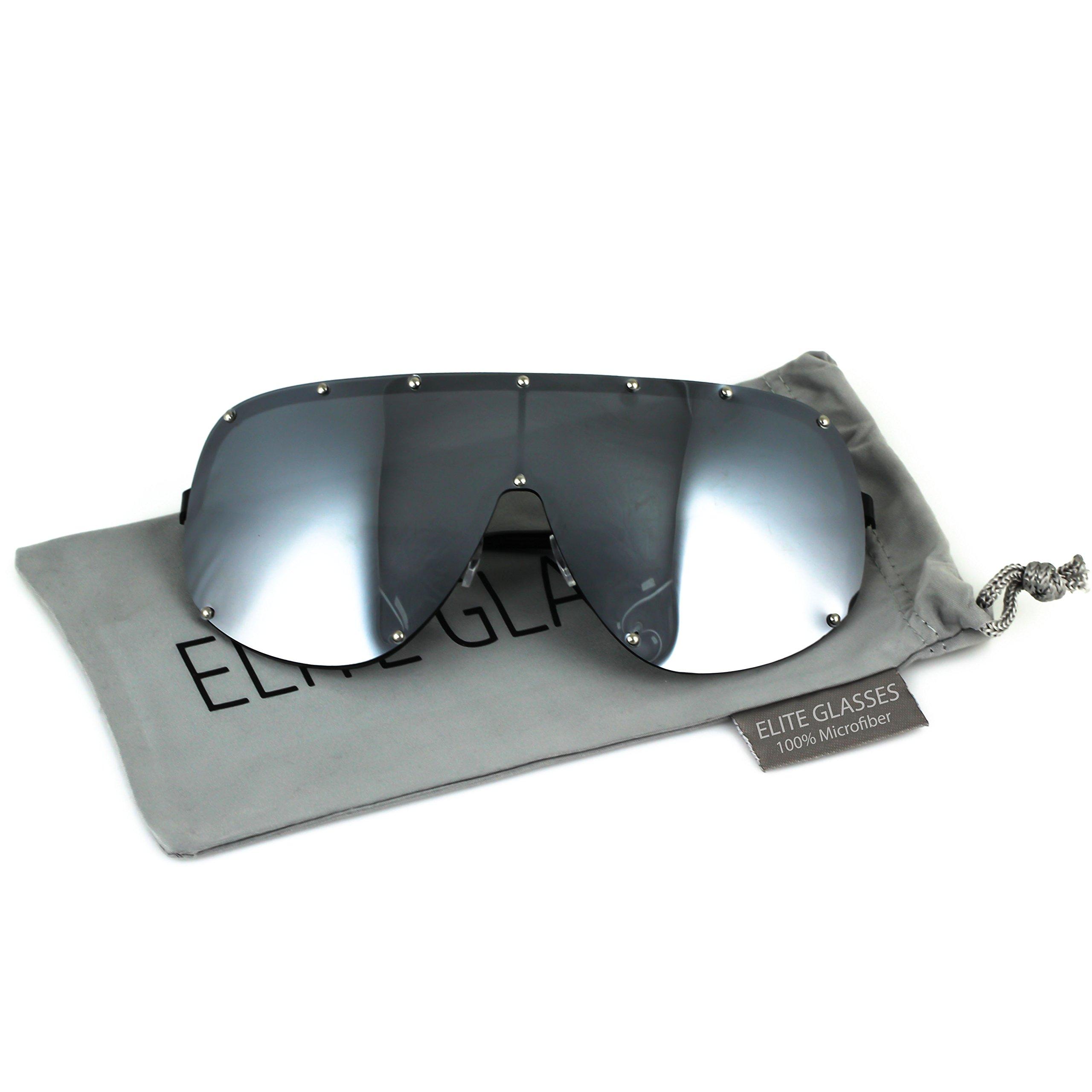 038e295ba5 Get Quotations · Oversize XXL Huge Large Shield Wrap Big Mask Polarized  Sunglasses