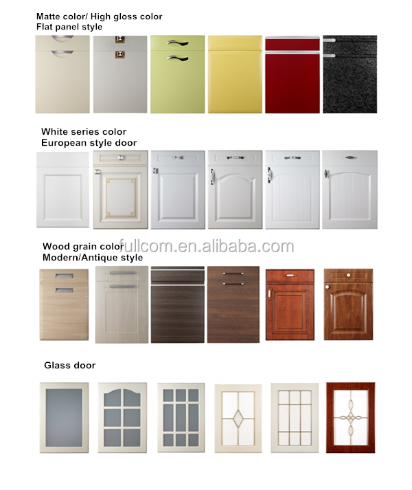 Mdf Pvc Kitchen Cabinet Door - Buy Kitchen Cabinet Door,Pvc Kitchen ...