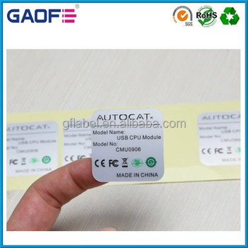 fasson heat resistant label adhesive pet material labels printable sticker paper