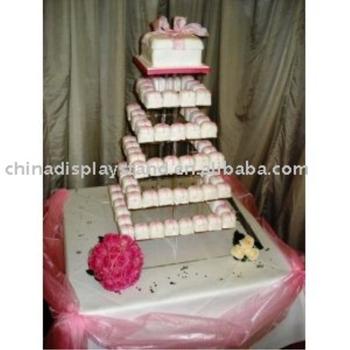 Surprising 7 Tier Square Birthday Cake Stand Acrylic Wedding Cupcake Cake Funny Birthday Cards Online Overcheapnameinfo