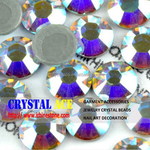 SS4-SS40 AB crystal flat back hot fix rhinestone for clothing