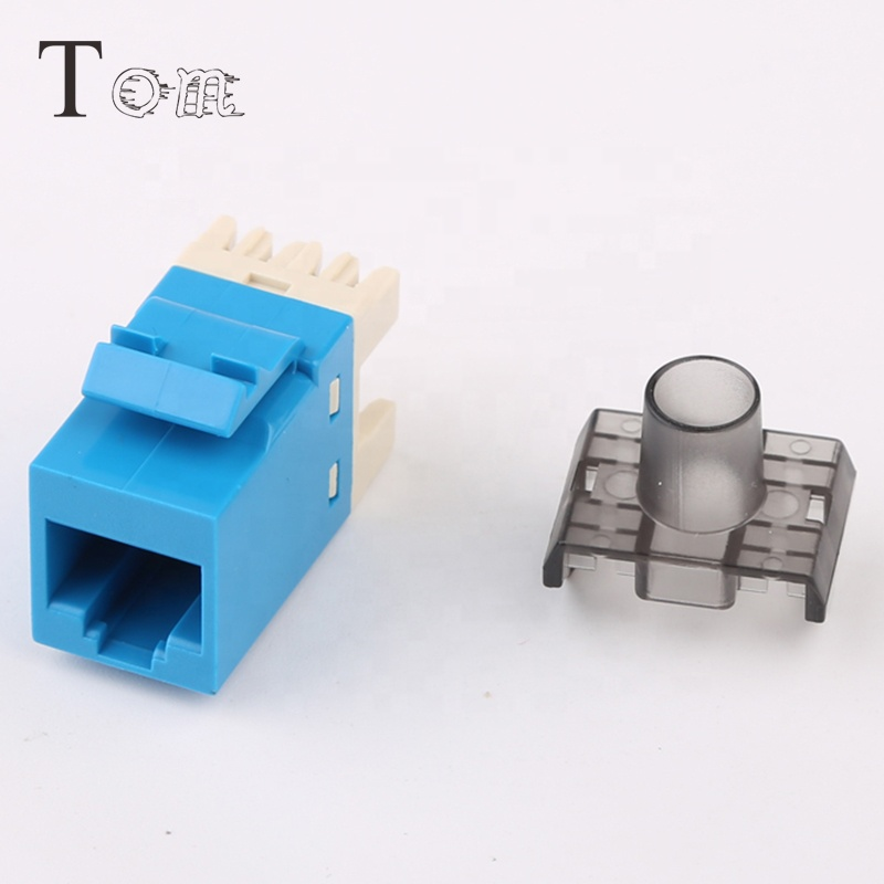 TOM-KJ-5-6 Blue RJ45 Network Module Cat6 Punch Down Keystone Jack