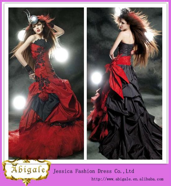 vestido novia rojo y negro – vestidos madrina