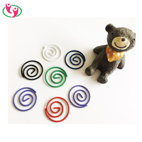 High Quality Good price Circle Shaped Paper clips with colorful PET coated