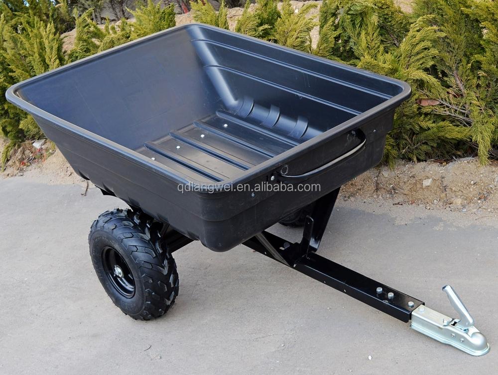 Atv Hitch Tow Behind Yard Utility Dump Trailer Cart 2