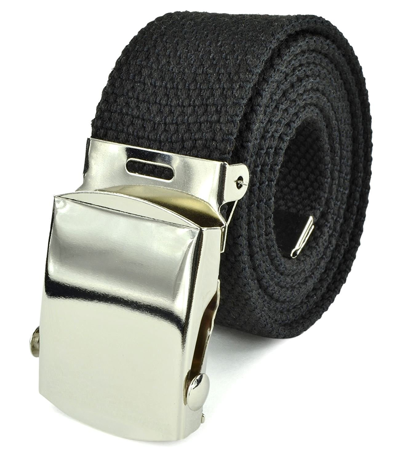 Belle Donne- Unisex Men/Women Heavy Duty Canvas Military Style Belt-Black