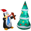 6.5ft largest inflatable christmas tree with penguin and snowman in good quality