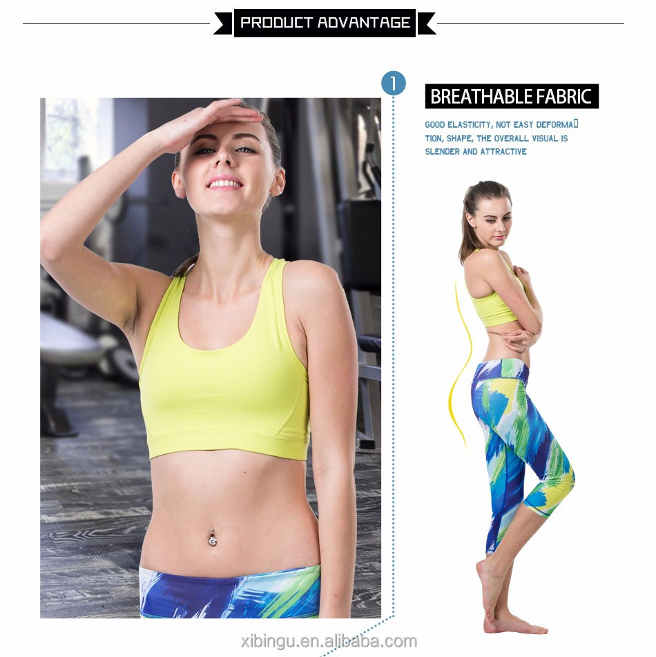 OEM / ODM Rushed Strappy Bra Cropped Women Yoga Bra Athletic Built-in Pad Sports For Push Up Tank Top For Girls Ropa Deportiva