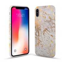2018 Hot New Products Gold Stamping Marble Print Hard Thin Plastic Phone Case Cover For iPhone X