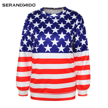 wholesale women 3d American flag cheap clothes