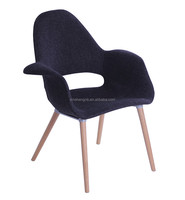 single color fabric covered chair dining chair